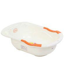Babyhug Baby Bath Tub Elephant & Duck Print - Cream & Orange