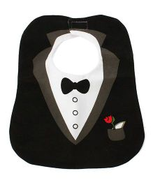 Little Hip Boutique Tuxedo Style Bib - Black