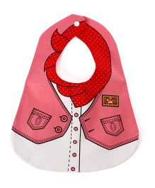 Little Hip Boutique Collar Print Bib - Pink