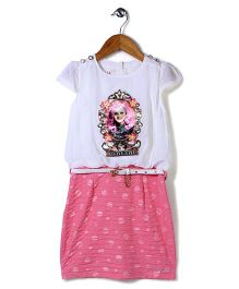 Lei Chie Screen Print Dress - Pink