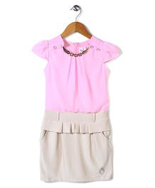 Lei Chie A-Line Dress - Pink