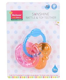 Morisons Baby Dreams Sunshine Rattle and Toy Teether - Pink Orange Blue