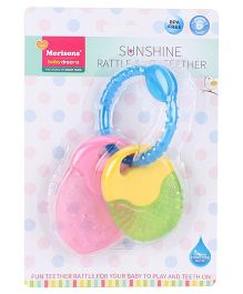Morisons Baby Dreams Sunshine Rattle and Toy Teether - Pink Green Blue Yellow