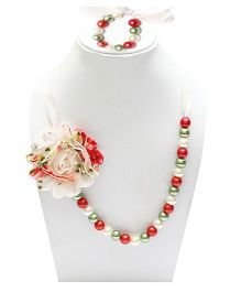 D'chica Necklace & Bracelet Set - Multicolour