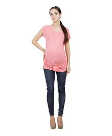 Best Of Bump Short Sleeves Maternity T-Shirt Pink - Large