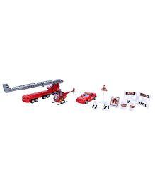 Playmate Fire Engine Play Set - 10 Pieces
