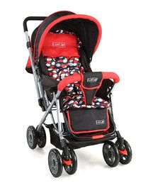 Luv Lap Sunshine Baby Stroller Red And Black - 18182