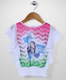 Lei Chie Digital Design Casual Top - White & Pink