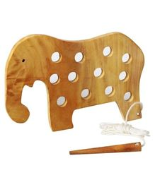 Little Genius - Lacing  Wooden Elephant