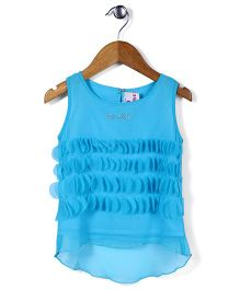Lei Chie Cloth Punching Casual Top - Blue