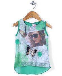 Lei Chie Digital Print Top - Green