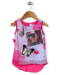 Lei Chie Digital Print Top - Pink