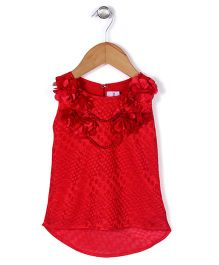 Lei Chie Frilled Party Top - Red