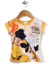 Lei Chie Casual Top With Digital Print - Yellow