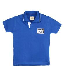 TONYBOY Embroidered Patch T-Shirt - Blue