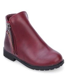 Doink Ankle Length Boots - Maroon