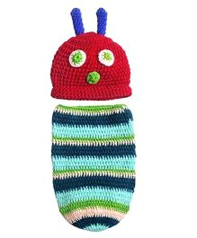 The Original Knit Caterpillar Baby Cocoon Sleeping Bag Set - Multicolour