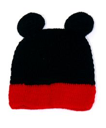 The Original Knit Cap - Black & Red