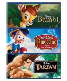 Sony Bambi Tarzan And Pinocchio Movie DVD - English