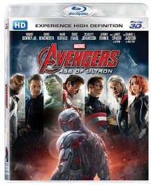 Marvel Avengers Age of Ultron Blu-ray 3D Discs - English