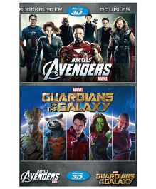 Marvel Avengers & Guardians of Galaxy Pack of 2 Movies