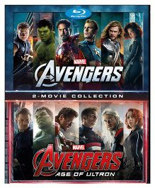 Marvel The Avengers And Avengers Age of Ultron Blue Ray Disc Movie - English
