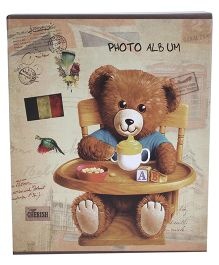 Bear With Chair Print Photo Album - Brown