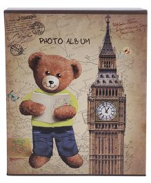 Bear With Book And London Tower Photo Album - Brown