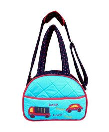 Little Pipal On The Go Diaper Bag And Changing Mat - Aqua Blue