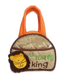 Little Pipal Lion Diaper Bag And Diaper Changing Mat Caddy - Green