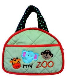 Little Pipal My Zoo Diaper Bag And Diaper Changing Mat Caddy - Green