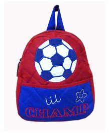 Little Pipal Lil Champ RTG Toddler Backpack Red And Blue - 11 Inches