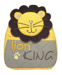 Little Pipal Lion King RTG Toddler Backpack Yellow And Grey - 11 Inches