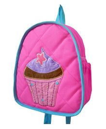 Little Pipal Cupcake Toddler Denim Backpack Pink - 11 Inches