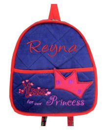 Little Pipal Kisses For Our Princess Toddler Backpack Pink And Red - 11 Inches
