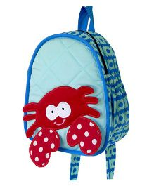 Little Pipal Water Friends Crab Toddler Backpack Blue And Red - 11 Inches