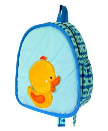 Little Pipal Water Friends Duckling Toddler Backpack Blue And Yellow - 11 Inches