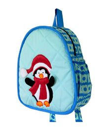 Little Pipal Water Friends Penguin Toddler Backpack Blue And Red - 11 Inches