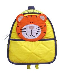 Little Pipal Jungle Collection Tiger Toddler Backpack Yellow And Orange - 11 Inches