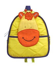 Little Pipal Jungle Collection Giraffe Toddler Backpack Yellow And Orange - 11 inches