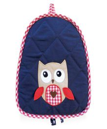 Little Pipal Whoo Loves You Toddler Backpack Navy Blue -11 Inches