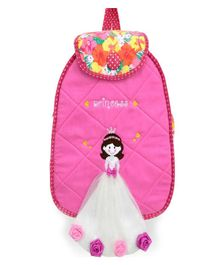Little Pipal Rose Princess Junior Backpack Pink And Grey - 14 Inches