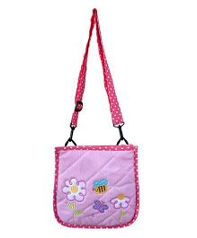 Little Pipal Ibby Daisies Cross Body Purple - 10 Inches