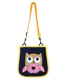 Little Pipal Whoo Loves You Cross Body Bag Navy Blue - 10 Inches