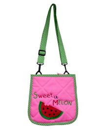 Little Pipal Lil Melon Cross Body Pink And Green - 10 Inches