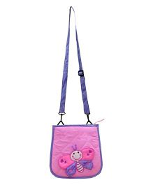 Little Pipal Butterfly Cross Body Bag Pink And Purple - 10 Inches