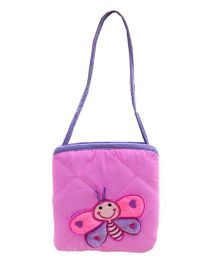 Little Pipal Butterfly Mini Tote Pink And Blue - 8 Inches