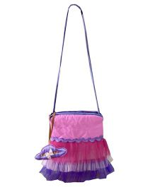 Little Pipal Diva Cross Body Tutu Tote Bag Pink And Purple - 9 Inches