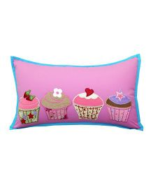 Little Pipal Cupcake Design Cushion - Pink