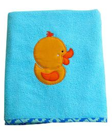 Little Pipal Duck Design Premium Bath Towel - Blue